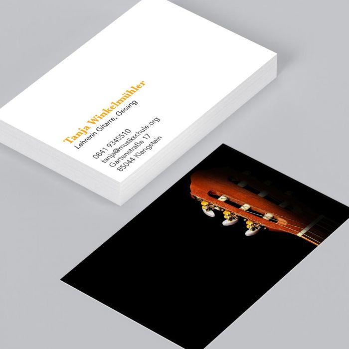 Visitenkarte Gitarrenkopf