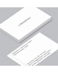 Visitenkarte Hacker (weiß)