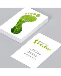 Visitenkarten Für Fußpflege Einfach Gestalten Und Bestellen