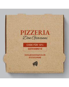 Capri Pizzakarton Braun Personalisierbar