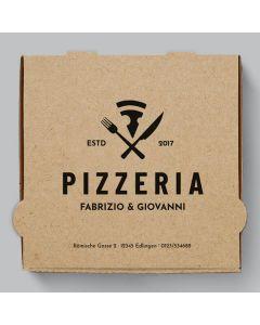 Diavola Pizzakarton Braun Personalisierbar