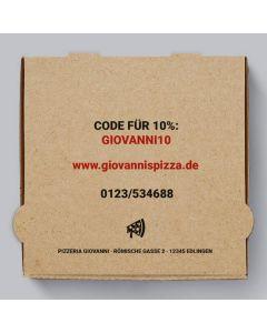Funghi Pizzakarton Braun Personalisierbar