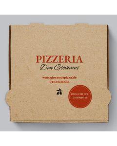 Marinara Pizzakarton Braun Personalisierbar
