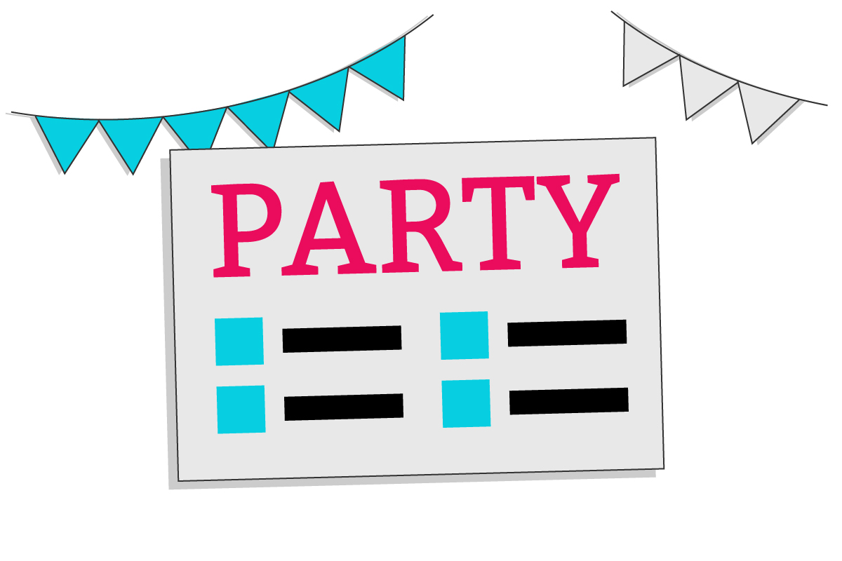 Partyflyer Bild