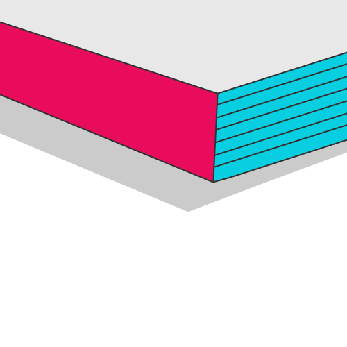 Broschüre mit Klebebindung