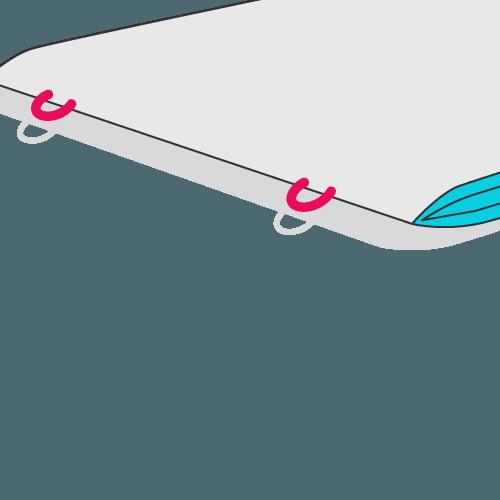 Broschüre mit Ringösenbindung