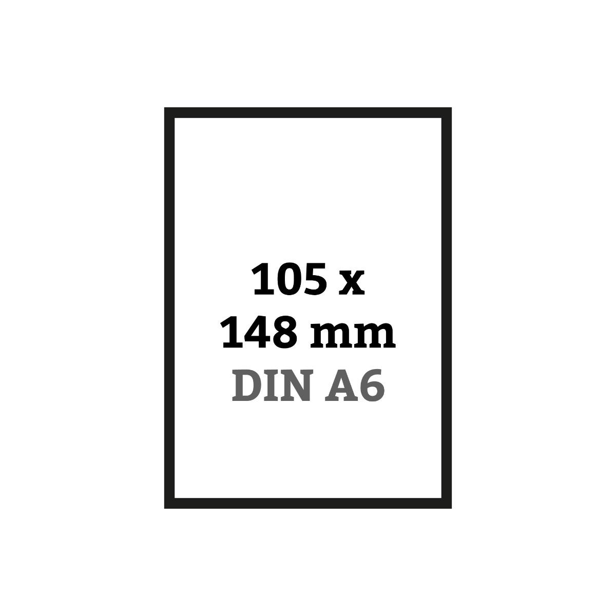 DIN A6 105 x 148 mm