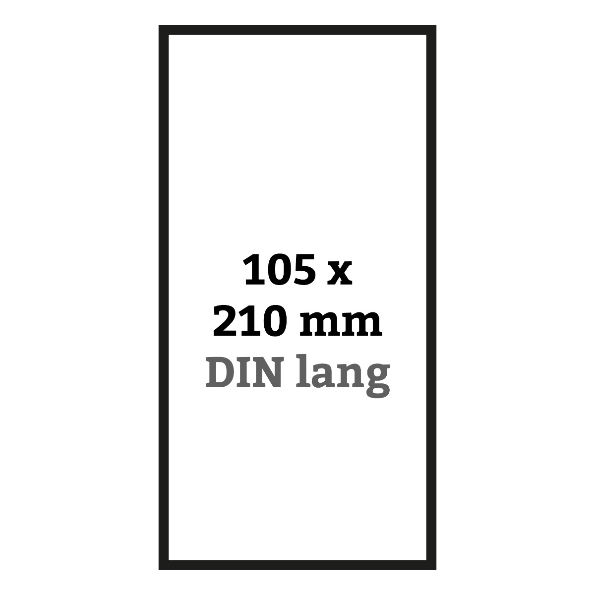 DIN lang 105 x 210 mm
