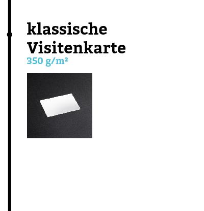 Grammatur einer Visitenkarte