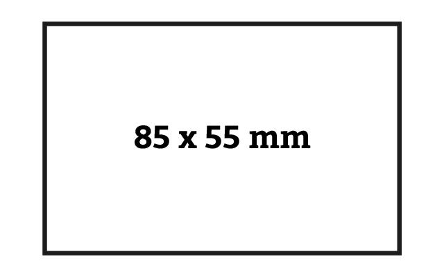 klassisches Visitenkartenformat 85 x 55 mm