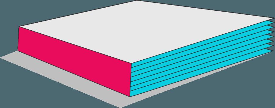 Bild von einer Klebebindung