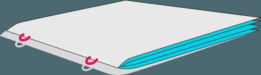 Bild von einer Rückendrahtheftung
