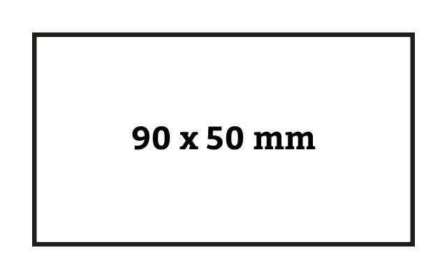 Visitenkartenformat schmal 90 x 50 mm