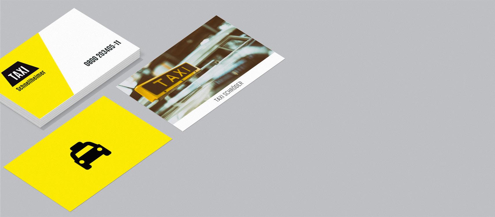 Visitenkarten für Taxi