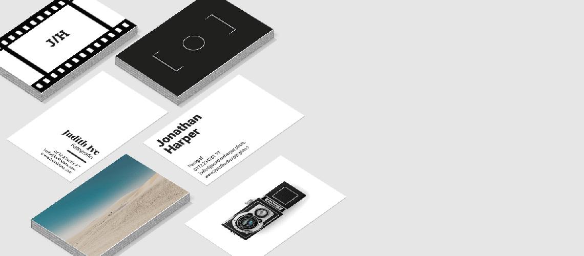 Visitenkarten Für Fotografen Einfach Gestalten Und Bestellen
