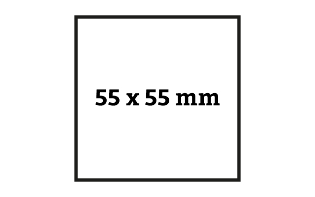 quadratische Visitenkarte mit 55 x 55 mm