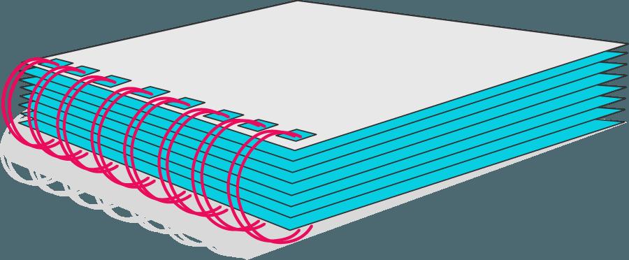 Bild von einer Wire-O-Bindung
